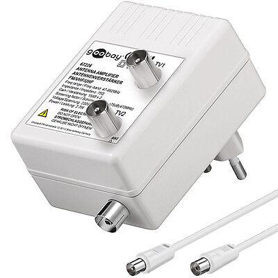 Antennen Verstärker für Kabel TV & Radio, DVBT / DVBT2 I 15dB I  DHL Paket
