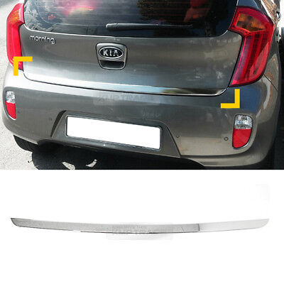 Chrome Rear Trunk Garnish Molding Cover Trim D789 for KIA 2011 - 2016 Picanto
