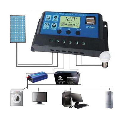 12-24V 30A LCD PWM Solar Regler Batterie Regulator Laderegler Controller ()