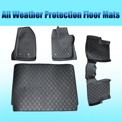 4x Floor Mats Front Rear Liners Carpet BEST Fit For Jeep Renegade 2016 2017