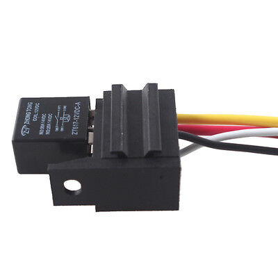 12V 30A SPST Relay For Electric Fan Fuel Pump Horn Car Kit 4P 4 Wire Sales