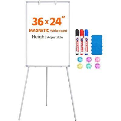 Magnetic Whiteboard Office White Board Adjustable Metal Frame Portable Easel