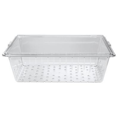 Cambro Clear Plastic Cold Food Storage Box Colander - 26l X 18w X 8d
