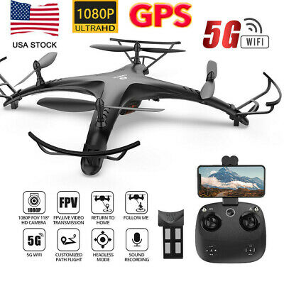 DE24 RC Drone with 1080p HD Camera 5G Wifi GPS Battery FPV Recording Quadcopter