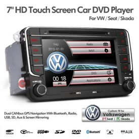 VW Golf Passat Jetta Volkswagen Seat Skoda Radio Bluetooth GPS Car Audio DVD Player USB Aux Stereo
