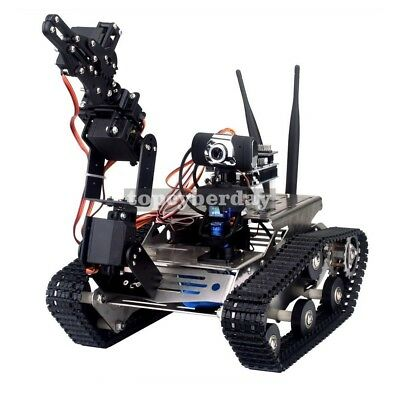 Wireless Wifi Manipulator Robot Car With Arm For Arduino Vehicle Robotics Camera