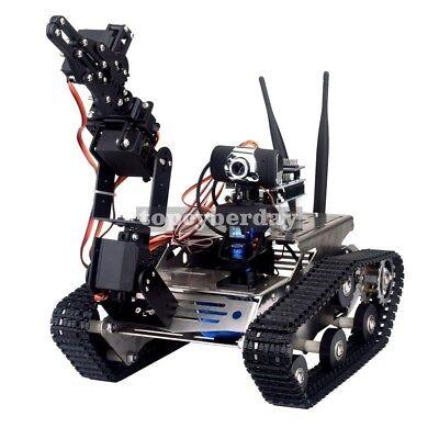 Wireless Wifi Manipulator Robot Car With Arm For Arduino Vehicle Robotics Camera