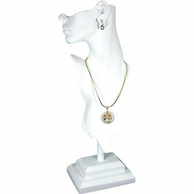 White Mannequin Necklace Bust Jewelry Display 20 New