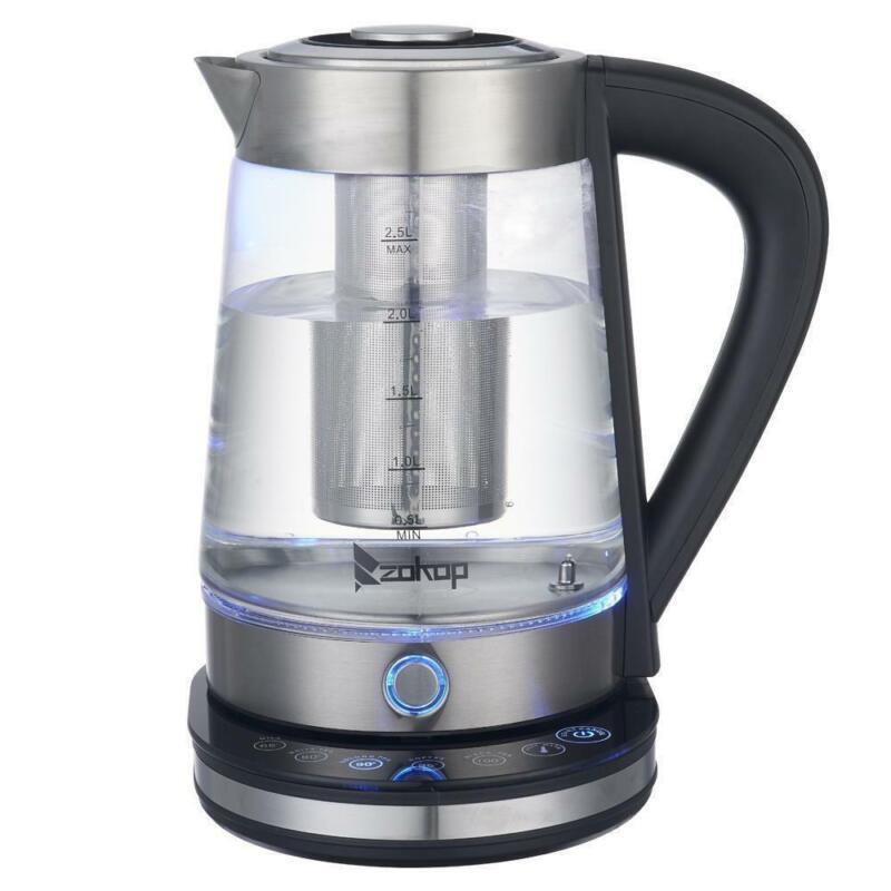 ZOKOP 2.5L Temperature Control  Electric Glass Tea Water Kettle Boiling Shut-off