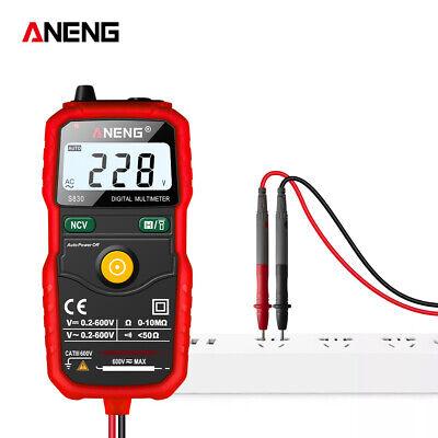 Digital Clamp Meter Multimeter Lcd Handheld Rms Acdc Mini Resistanc Voltage Us
