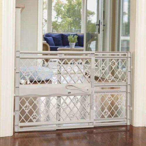 Baby Safety Gate Indoor Fence For Pet Cat Dog Toddler Child Walk Thru Plastic .