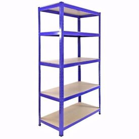 £55 HEAVY DUTY 175kg/shelf BLUE Storage shelves 180x90x60cm Metal Racking Garage delivery