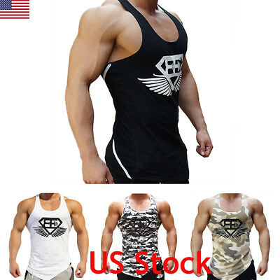 - Men's Camouflage Sleeveless Tank Top Military Army Sport Fitness Gym Muscle Vest
