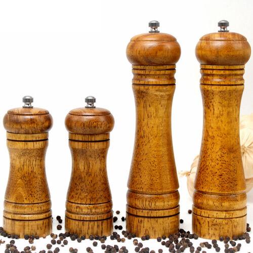 8″ Pepper Spice Herb Grinder Wooden Cruet Mill Condiment Grinding Home & Garden