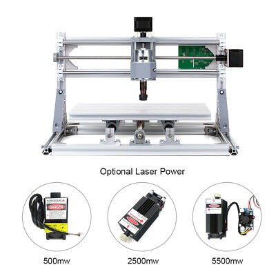 3 Axis Cnc3018 2 In 1 Laser Engraving Machine Xyz Working Area Engraver G6u0