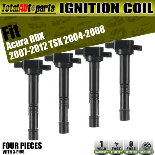 4Pc Ignition Coil Pack For Acura RDX TSX 2004-2012 I4 2.3L