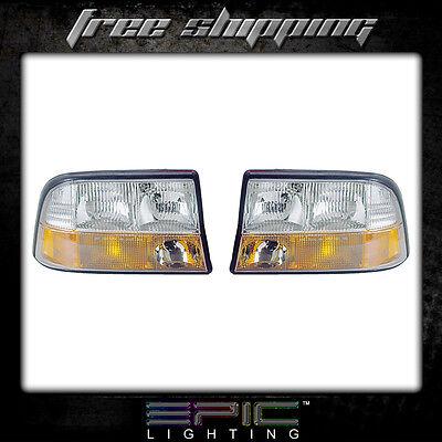 - Fits GMC Jimmy Sonoma Truck w/Fog Light Headlight Headlamp Pair Left right set