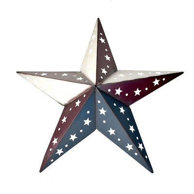 (Large Metal Patriotic Punch Out Star Wall Decor, 22-Inch)
