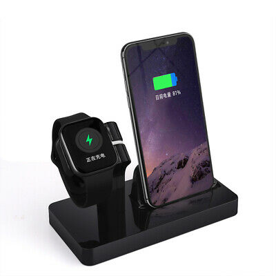 UK Charger Holder Charging Dock Stand Station for Apple Watch iPhone 11 Pro XS X