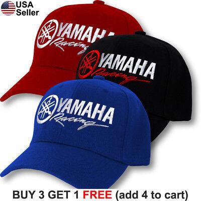 Yamaha Logo Baseball Cap - Yamaha Logo Cap Factory Racing Motorcycle Hat YZ 80 85 125 250 450 R1 R6 FZR
