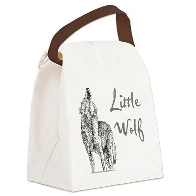 little wolf canvas lunch bag with strap