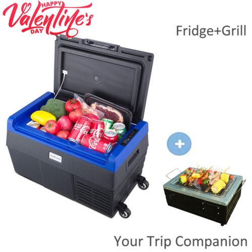 37QT Portable Car Freezer Fridge Camping Travel Mini Refrigerator With Grill