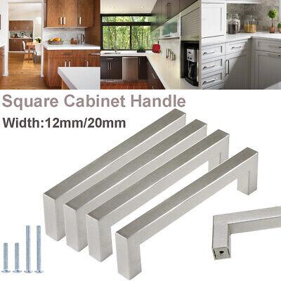 Brushed Satin Nickel Kitchen Cabinet Handles Drawer Pulls Cupboard Door -