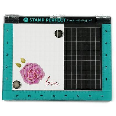 New Hampton Art Rubber Stamp tool STAMP PERFECT positioner free priority us ship