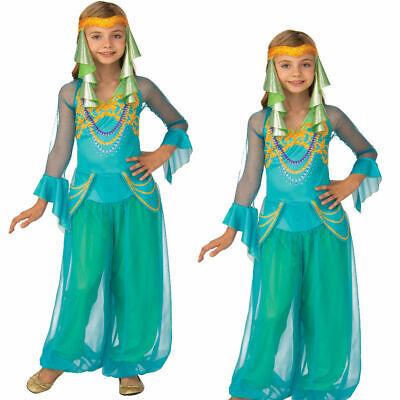 Mädchen Jasmin Arabisch Prinzessin Kostüm Bauchtänzerin ALADDIN - Mädchen Genie Kostüme