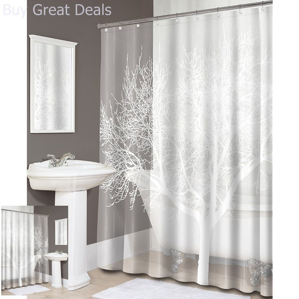 Details About Tree EVA Shower Curtain PVC Free Bathroom Decor Easy To Clean 70 X 72in