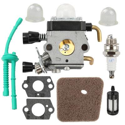 NEW Carburetor For STIHL FS55 FS55R FS55RC KM55 HL45 KM55R FS38 w/ Fuel Line Kit