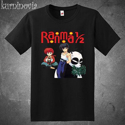 Ranma 1/2 Retro Anime Japan Men's Black T-Shirt Size S to 3XL
