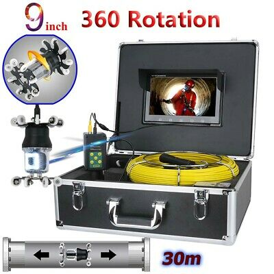 30m Sewer Pipe Pipeline Drain Inspection Video System 9lcd 360 Degree Camera
