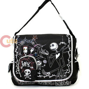 Nightmare-Before-Christmas-School-Messenger-Bag-NBC-Shoulder-Bag-Skull-Boens