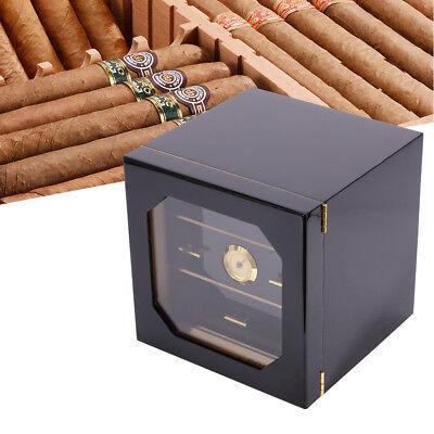 Black Finish Humidor - Black Gloss Piano Finish Cedar Cigar Cabinet Humidor 3 Drawers+Humidifier
