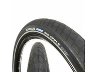2 x Schwalbe Big Apple 16 X 2.00 Wired Tyres with Kevlar used 1 month