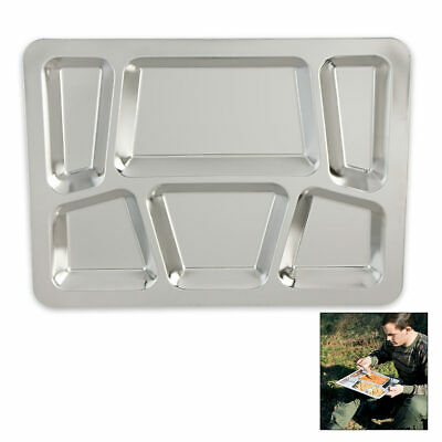 Military Surplus Stainless Steel Dining Tray Cooking Camping