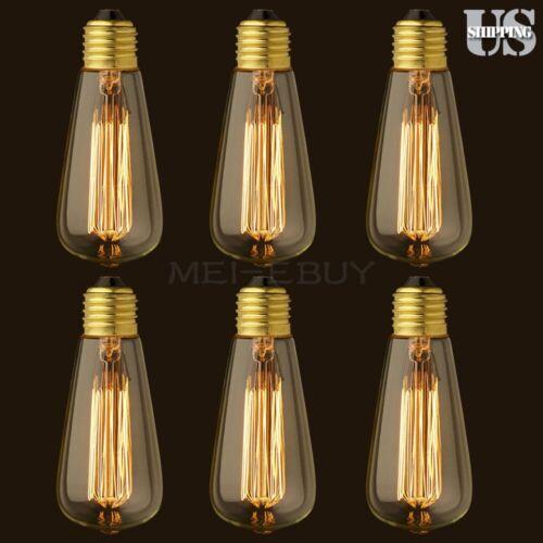 3/6/8-Pcs Edison Vintage 110V 40/60W E26 Light Lamp Bulb Filament Incandescent