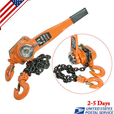 1.5 Ton 3000lb Capacity Chain Lever Block Hoist Come Along Ratchet Lift Us Ship