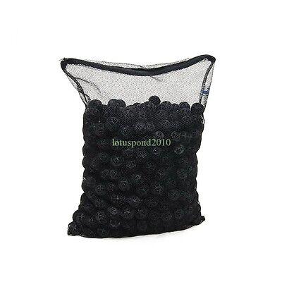 - 500pcs Bio-ball Filter Media for Aquarium Fish Pond Waterfall Fountain with Bag