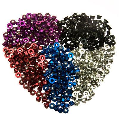 (10PCS Aluminum Flanged Nylon Lock Nuts M3 M4 M5 for RC Model 5 Colors)
