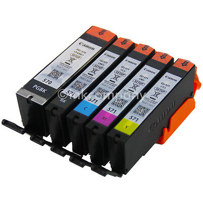 5x Original CANON Patronen PGI-570-PGBK+CLI-571-C M Y BK Multipack 0372C004