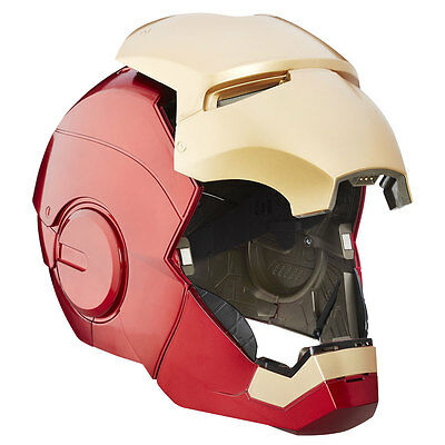 Iron Man elektronischer Helm Marvel Legends, tragbarer Helm Sound & Light Hasbro