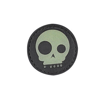 NEW 3D PVC Voodoo Skull Military Army Tactical Velcro Morale Patch Glow / Black