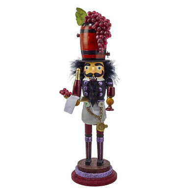 "[Kurt Adler Hollywood Nutcracker - Wine Christmas Nutcracker 19"" HA0026 New</Title]"
