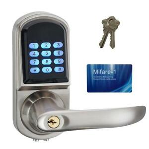 New HAIFUAN Right Hand Electronic Keyless Code Door Lock,Unlock With Code,Mifare Card, And Mechanical Key