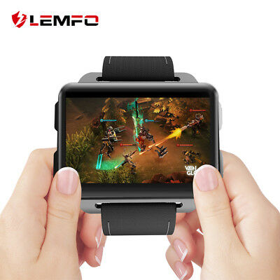 Lemfo LEM4 Pro 2018 Man Brilliant Watch Phone 3G SIM WiFi 16GB GPS For Android iOS