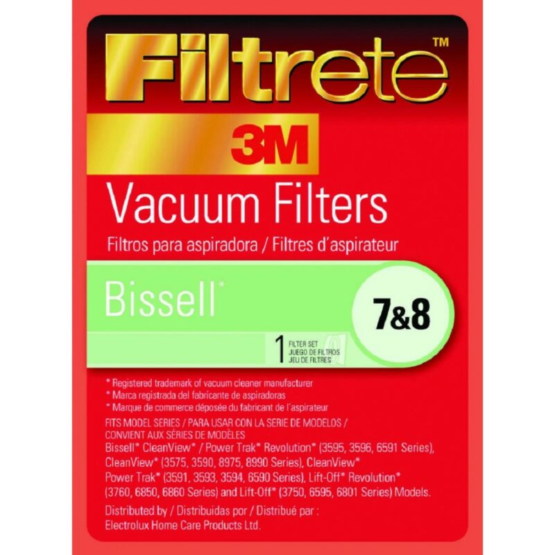 (Lot of 4) Filtrete (66878) Bissell Vacuum Filter for 7 & 8