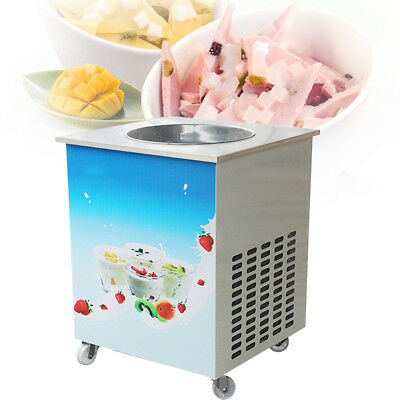 Fried Ice Cream Maker Roll Yogurt Fry Ice Cream Machine Commercial Single Pan Us