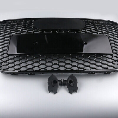 """Black Front Bumper Grille Honeycomb For Audi A5 S5 2013-2016 """"RS5 Style"""""""